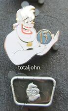 Disney WDW 13 Reflections of Evil Mystery Collection Ursula and Chaser 2 Pins