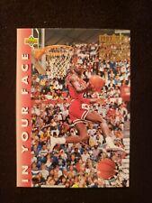 💎1992-93 Upper Deck Michael Jordan IN YOUR FACE 2X SLAM DUNK CHAMPION #453💎
