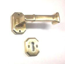 Maniglia per porte interne Nestori in Oro Lucido con rosetta esagonale