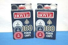 Lot of 2 Hoyle Poker Chips 100 in each box.Brand new in box