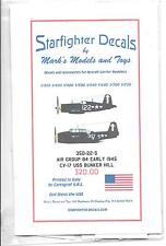 Starfighter Air Group 84 Erly 1945 Mrkngs, CV-17 Bunker Hill Decals 1/350 105 ST
