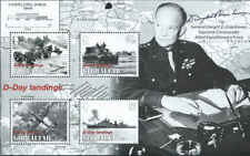 Gibraltar-2004-D-Day-60th Anniversary 4 Stamp Sheet Scott #979a