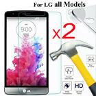 2-Pack For LG G8 G8s V50 V40 V35 Q6 ThinQ Aristo Tempered Glass Screen Protector