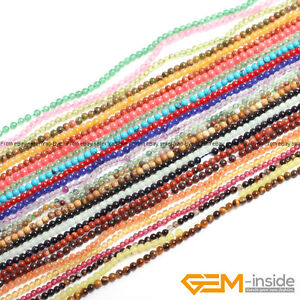 Natural Assorted Stones Tiny Small Spacer Loose Beads For Jewellery Making 15""
