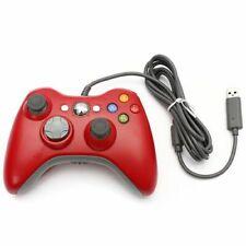 Red Xbox 360 controlador de game pad con conexión USB para Microsoft Xbox 360 Windows PCUK