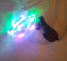 Glasses   LED   Light Up   LED Lights   Dark Shade Glasses   Party   Normal  
