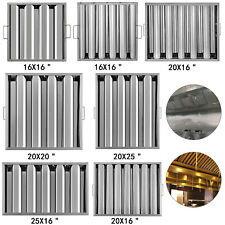 6 Pack Hood Grease Exhaust Filter Baffle Stainless Steel Commercial