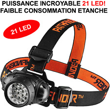 RARE INTROUVABLE! LAMPE FRONTALE 21 LED HYPER PUISSANTE! BRICOLAGE SECURITE VTT