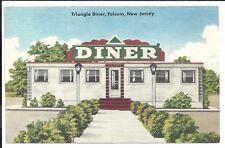 Triangle Diner Folsom NJ Vintage Original Postcard