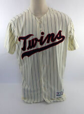 Fernando Abad GAME USED JERSEY Home Cream Minnesota Twins MLB AUTHENTIC Baseball
