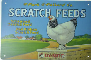 Purina Feed  Metal Sign Wicked Chickens Make Deviled Eggs Art Vintage Style