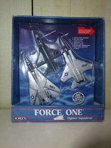 ERTL FORCE ONE FIGHTER SQUADRON  F14 F15 F16 BOX OPEN FOR DISPLAY ONLY SEE PHOTO