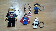 LEGO 4 keyrings star wars superman police torch