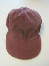 Polo Ball Cap, Burgundy, GUC, leather strap