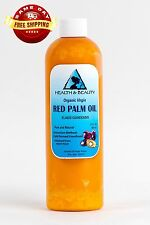 """PALM OIL """"RED"""" EXTRA VIRGIN UNREFINED ORGANIC CARRIER COLD PRESSED PURE 12 OZ"""