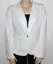 NEW Dennis Basso Size XL Ponte Knit One Button Jacket with Pockets Soft White
