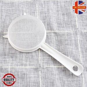 Heavy Duty Plastic Tea Coffee Juice Flour Liquid Strainer Mesh Filter Sieve 9cm