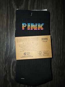 VS PINK 2pk crew Socks BRAND NEW rainbow & logo