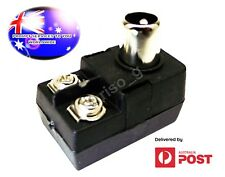 From OZ Quality 1PC TV Aerial Male Plug 75 300ohm PAL Adapter Connector Balun FP