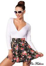 Markenlose geblümte Mini-Damenkleider für die Freizeit