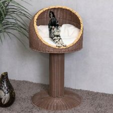 New listing Cat Bed Sleeping For Cat Wicker Elevated House Small Medium Large Modern Outdoor