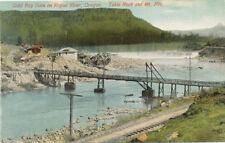 OR * Gold Ray Dam on Rogue River c1907  Jackson Co.  RR & Bridge Scene Mt Pitt