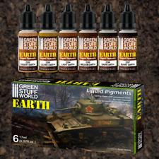 More details for earth liquid pigments set - 10128 -green stuff world