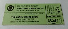 """CBS Television Network """"The Gary Moore Show"""" Show Ticket, 1954"""