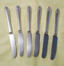 "Vintage Silverplate International Rogers Bro 1940 ""Cabin /Avalon"" 6 Knives"