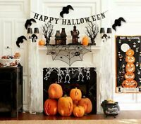 Halloween Decoration Party  Bloody Limb Spiders Window Stickers Foil Swirls Bats