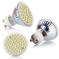 5W 60 LED GU10 220V 6500K 3528 SMD Lamp Bulb Power Spot Light High 2016 White