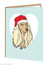 Afghan Dog Lovers Christmas Xmas Greetings Card Brainbox Candy Cute Humour