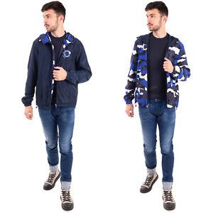 RRP €605 ROBERTO CAVALLI CLASS Windbreaker Jacket Size 48 / M Patterned Hooded