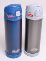 Thermos Funtainer Stainless Steel Water Bottle 16 oz. w/Snap Lid Blue or Gray!