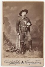 1880 Autographed Cabinet Photo of Cowboy James Elder OMT Lassoer Houston Texas