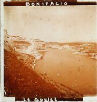 LA CORSE Bonifacio Le Goulet France, Photo Stereo Plaque Verre ca 1910