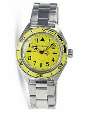 Vostok Komandirskie Watch 650859 Yellow Automatic Russian Wrist New