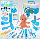 25Pc Kids Doctor Playset Girls Nurse Kit Pretend Play Toys Toddler Play Set Gift