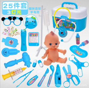 25Pc Kids Doctor Playset Girls Nurse Kit Pretend Play Toys Toddler Play Set Gift