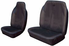 HEAVY DUTY SINGLE AND DOUBLE FRONT VAN BLACK & BLUE WATER RESISTANT SEAT COVERS