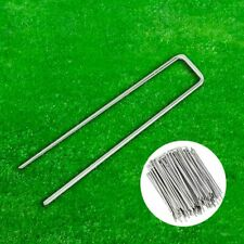 Artificial Grass Ground Garden Galvanised Lawn Pegs Turf Nails Staples Nails