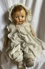 """Antique Doll Composition Head & Arms, Cloth Body, Dress & Shoes, 20"""""""