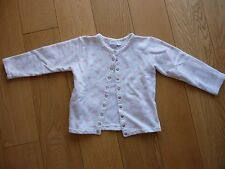Agnes B Cardigan for Girls 6y - White with Pink hearts