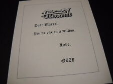 Ozzy Osbourne Dear Marcel.you're one in a million 1993 Promo Poster Ad mint