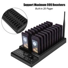 20pcs Restaurant Coaster Pager Wireless Paging Queue System 20 Number Guest Call