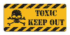 Toxic Keep Out - Vintage Metal Caution Sign | Bathroom, Bedroom, Man Cave Decor