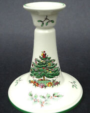 Spode Candlestick Christmas Tree Pattern Taper Candle Holder 5.75in Porcelain