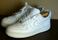 NIKE AIR FORCE 1 TRIPLE WHITE FOR MEN ( US SIZE MEN 7.5 ) PRE-OWNED ORIGINAL