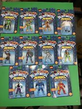 Marvel Action Figure Lot. Heavy Metal Heroes Die Cast Metal. 11 Rare Figures