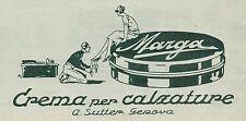 Y9818 Crema per calzature MARGA - A. Sutter - Pubblicità d'epoca - 1927 Old ad